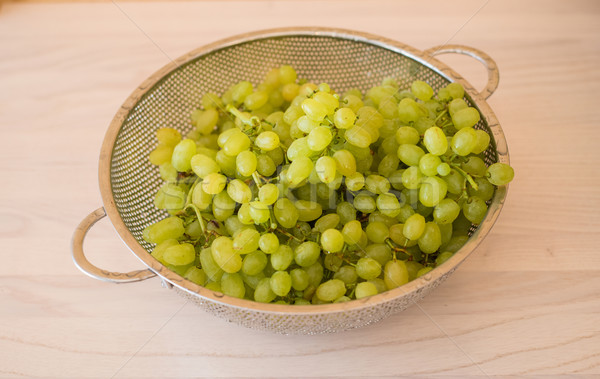 Green grapes in healthy eating concept Stock photo © Elnur