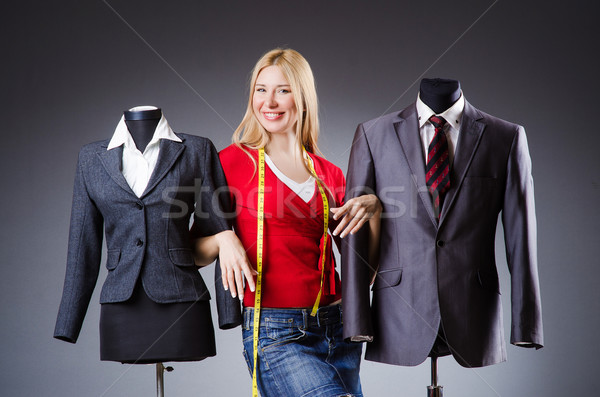 Vrouw kleermaker werken kleding mode werk Stockfoto © Elnur