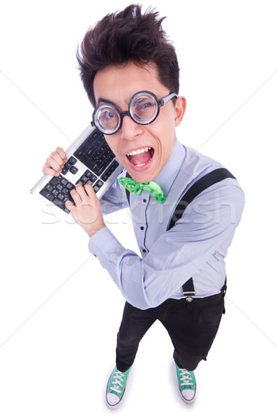 Computer geek nerd in funny concept Stock photo © Elnur