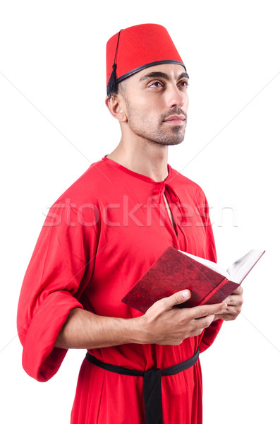Young turk with book on white Stock photo © Elnur