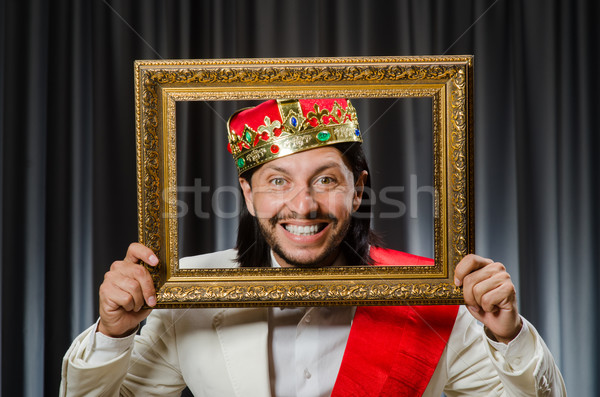 King with picture frame in funny concept Stock photo © Elnur