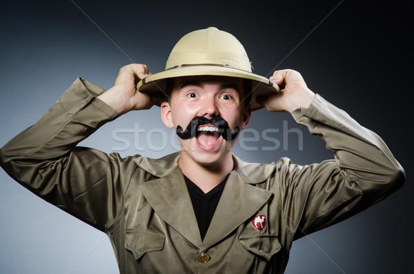 Homem safári seis caça jogo masculino Foto stock © Elnur
