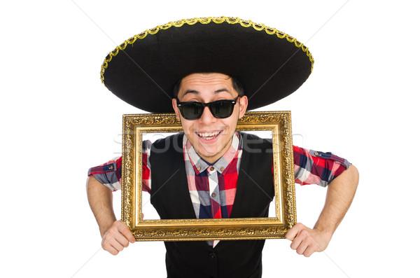 Engraçado mexicano sombrero festa homem vintage Foto stock © Elnur