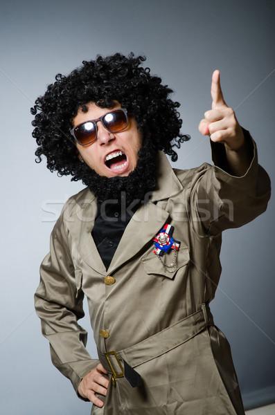 Vicces katona katonaság férfi szemüveg zöld Stock fotó © Elnur