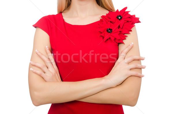 Scarlet dress isolated on white Stock photo © Elnur