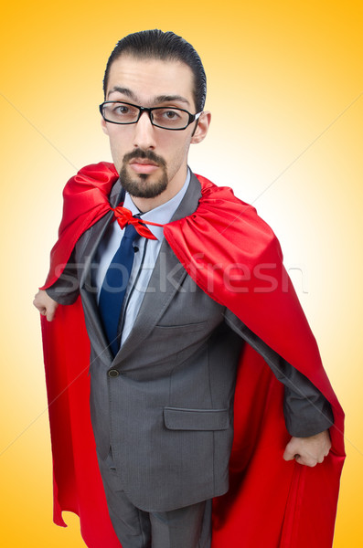Superman isolated on the white background Stock photo © Elnur