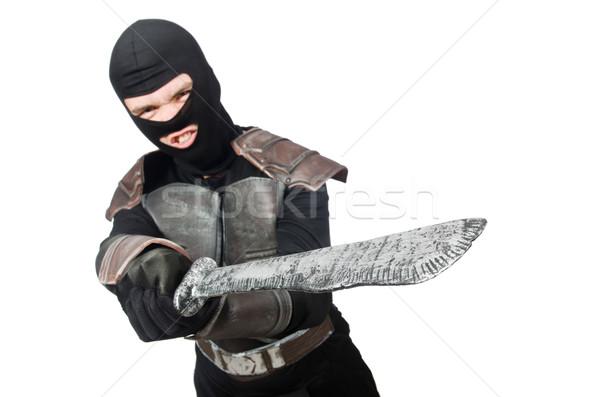 Ninja mes geïsoleerd witte man metaal Stockfoto © Elnur