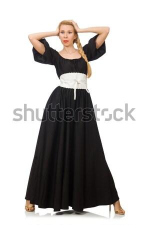 Kobieta taniec biały dance moda czerwony Zdjęcia stock © Elnur