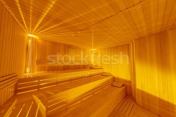 Hot wooden sauna room interior Stock photo © Elnur