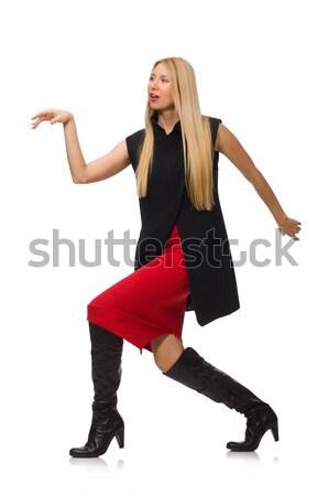 довольно юбка изолированный белый ног Сток-фото © Elnur