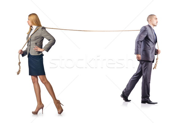 Man and woman in tug of war concept Stock photo © Elnur