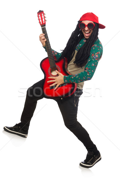 Homem guitarra musical homem branco branco festa Foto stock © Elnur