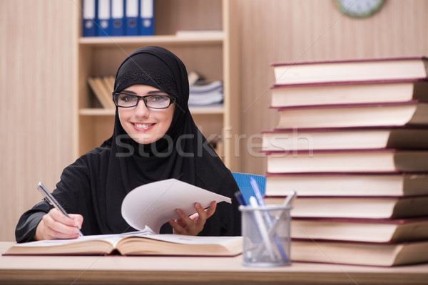 Woman muslim student preparing for exams Stock photo © Elnur