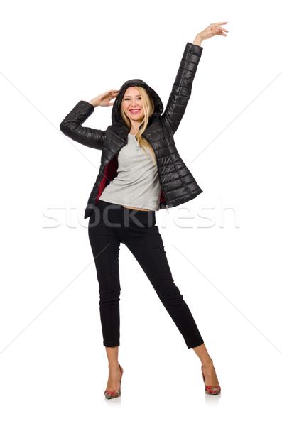 Femme noir veste isolé Photo stock © Elnur