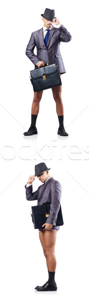 Composite photo of naked businessman on white Stock photo © Elnur