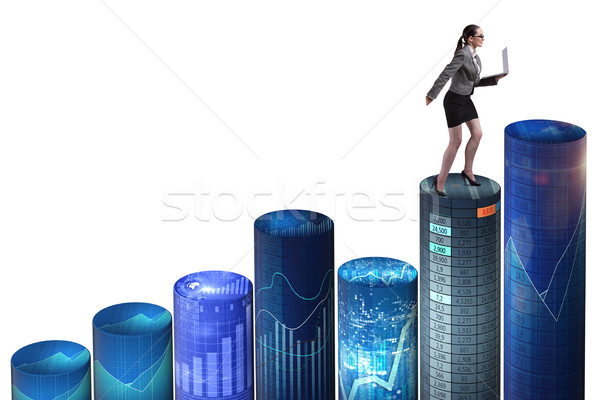 Woman trader in online trading concept Stock photo © Elnur