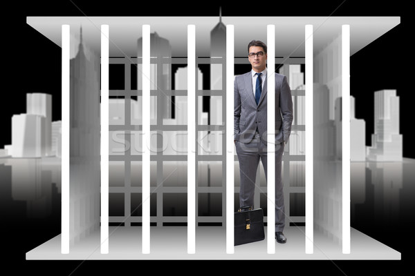 The businessman in the cage business concept Stock photo © Elnur