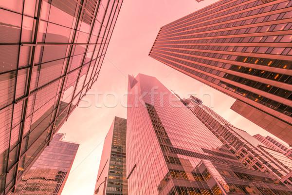 Nouvelle gratte-ciel rue niveau bureau ville Photo stock © Elnur