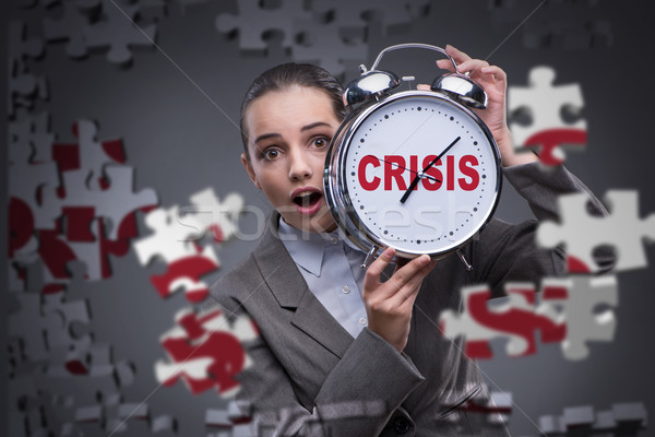 Young woman in crisis concept Stock photo © Elnur