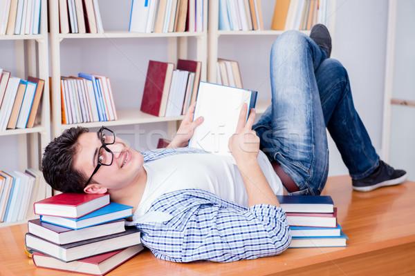 Stockfoto: Jonge · student · pauze · vallen