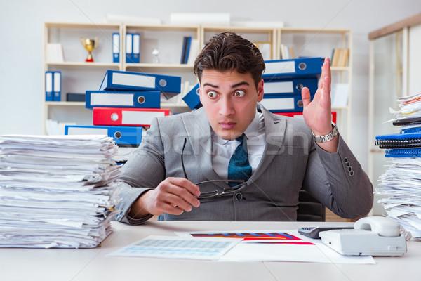 Imprenditore occupato scartoffie business ufficio carta Foto d'archivio © Elnur