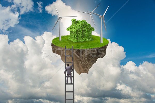 The man escaping to green environment Stock photo © Elnur