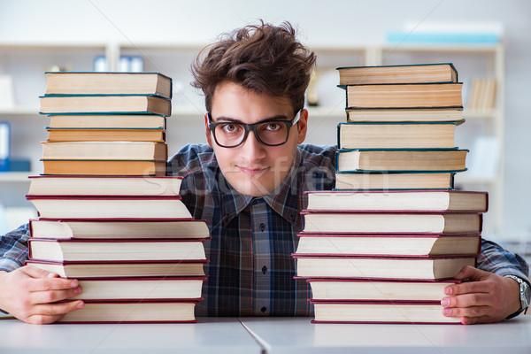 Nerd engraçado estudante universidade exames educação Foto stock © Elnur