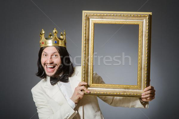 Jeunes roi affaires royal homme travaux Photo stock © Elnur