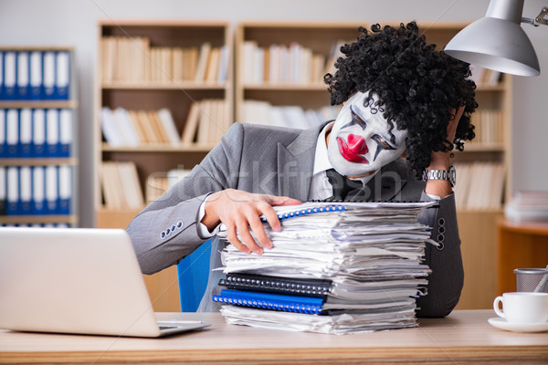 Clown affaires travail bureau homme portable Photo stock © Elnur