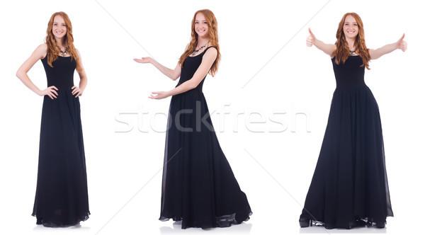 Woman model in fashion concept on white Stock photo © Elnur