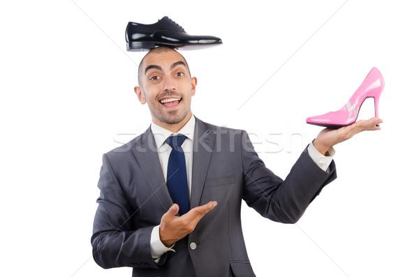 Hombre elección zapatos fondo empresario negro Foto stock © Elnur