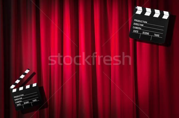 Filme conselho cortina fundo arte indústria Foto stock © Elnur