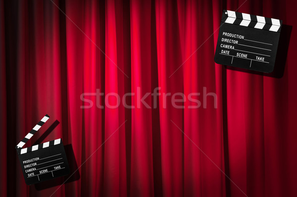 Film tahta perde arka plan sanat sanayi Stok fotoğraf © Elnur