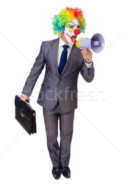 Empresario payaso altavoz blanco cara hombre Foto stock © Elnur