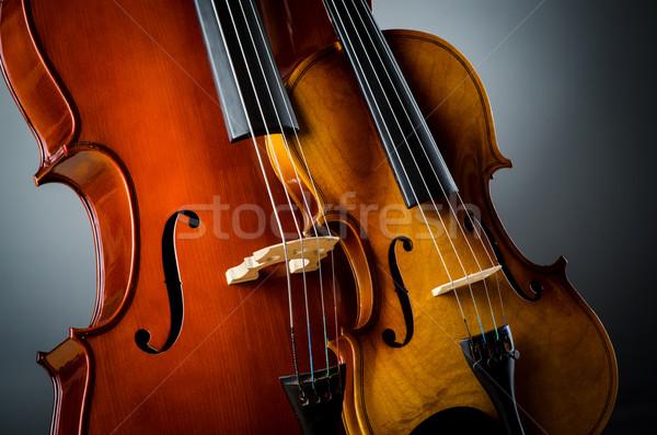Violin in dark room  - music concept Stock photo © Elnur