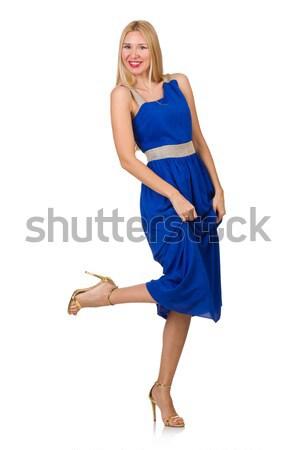 Vrouw kostuum holding handen witte glimlach mode Stockfoto © Elnur