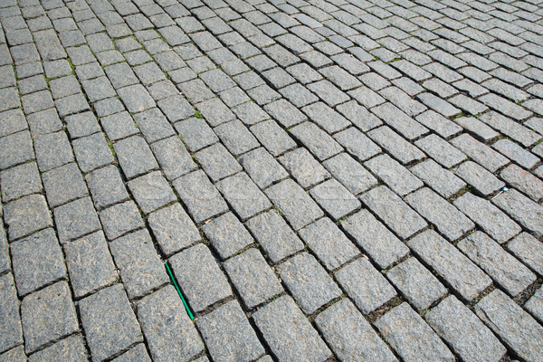 Old road paved with the cobble stones Stock photo © Elnur