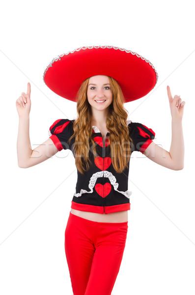Komik Meksika geniş kenarlı şapka mutlu Retro dijital Stok fotoğraf © Elnur