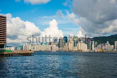 Hong Kong dag hemel gebouw stad Stockfoto © Elnur