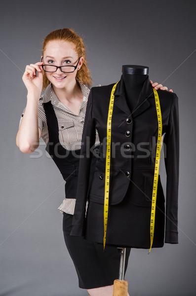 Nő szabó dolgozik új ruha divat Stock fotó © Elnur