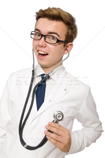 Сток-фото: смешные · врач · изолированный · белый · больницу · медицина