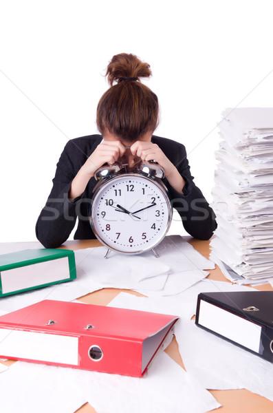 Kadın işkadını stres kayıp tarihler saat Stok fotoğraf © Elnur