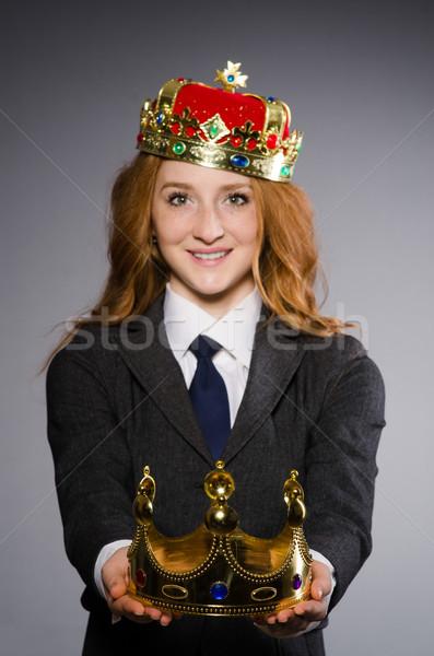 Királynő üzletasszony vicces nő üzletember öltöny Stock fotó © Elnur