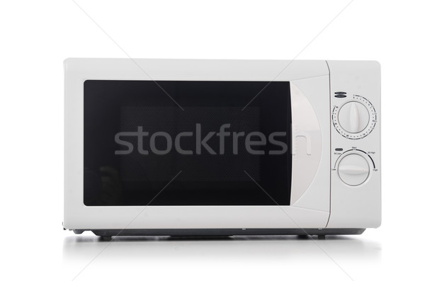Stok fotoğraf: Mikrodalga · fırın · tablo · teknoloji · pencere · siyah