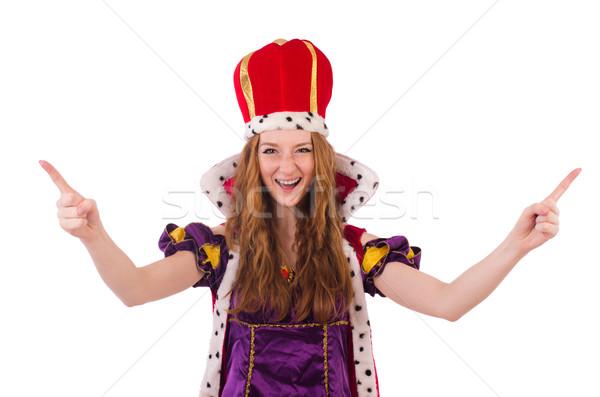 Dość młodych królowej fioletowy sukienka odizolowany Zdjęcia stock © Elnur