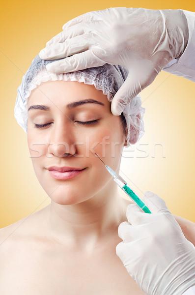 Donna chirurgia plastica faccia medico medici corpo Foto d'archivio © Elnur