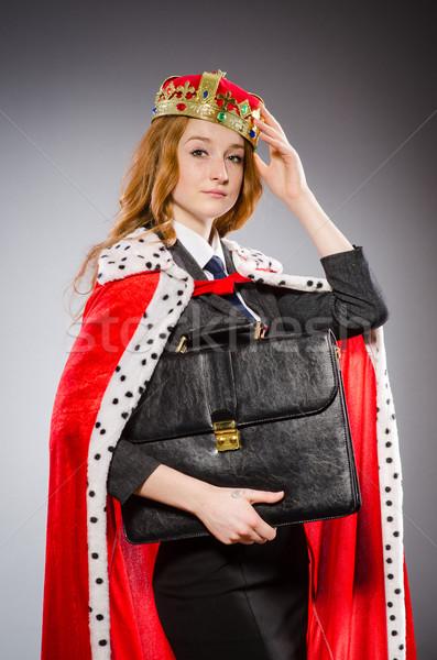 Vrouw koningin zakenvrouw grappig werk zakenman Stockfoto © Elnur