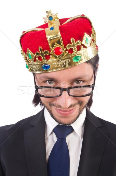 Króla biznesmen odizolowany biały działalności pracy Zdjęcia stock © Elnur