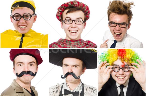 Colagem muitos faces modelo cara feliz Foto stock © Elnur