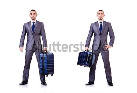 összetett fotó meztelen üzletember fehér munka Stock fotó © Elnur